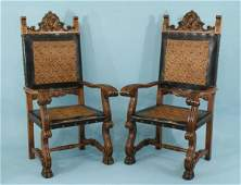 121: PAIR OF FRENCH RENAISSANCE REVIVAL ARMCHAIRS