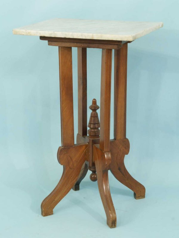 9: PEDESTAL TABLE WITH MARBLE TOP
