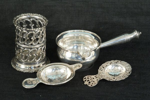15: LOT OF FOUR STERLING SILVER PIECES