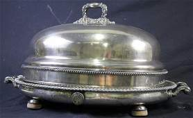 SILVER PLATED MEAT SERVING DOMED PLATTER
