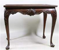 BAKER FURNITURE GEORGIAN STYLE MAHOGANY END TABLE