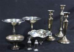 MIXED LOT OF NINE STERLING SILVER PIECES
