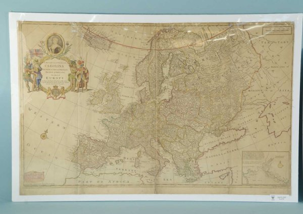 91: LOT OF TWO ANTIQUE MAPS OF EUROPE, CIRCA 1650's