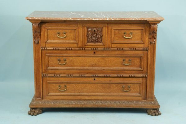 9: 19th CENTURY FRENCH GOTHIC STYLE OAK CHEST