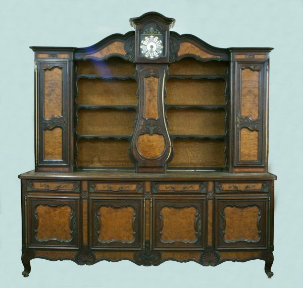 10: 19th CENTURY COUNTRY FRENCH CABINET WITH CLOCK