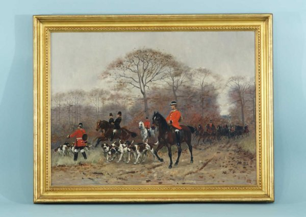 22: ENGLISH HUNT SCENE BY ADOPHE GUSTAVE BINET