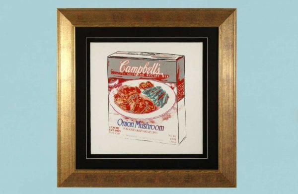 "50: ANDY WARHOL ""CAMPBELL'S ONION MUSHROOM SOUP BOX"""