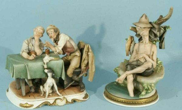 6: LOT OF TWO PORCELAIN FIGURES BY G. CAPPE