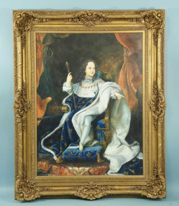 "9: FRAMED OIL ON CANVAS ""YOUNG KING LOUIS XV"""