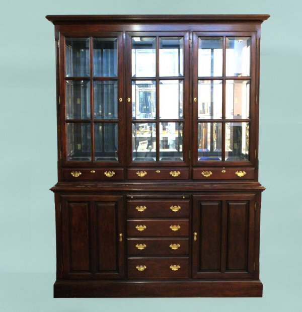 10: SOLID CHERRY CHINA CABINET BY PENNSYLVANIA CLASSIC