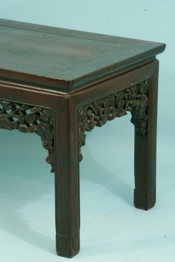 98: TWO ANTIQUE CHINESE CARVED COFFEE TABLES - 4