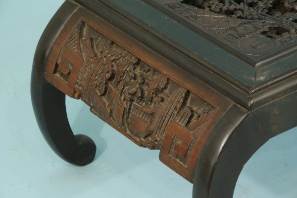 98: TWO ANTIQUE CHINESE CARVED COFFEE TABLES - 6