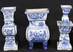 MIXED LOT OF THREE CHINESE BLUE  WHITE PIECES