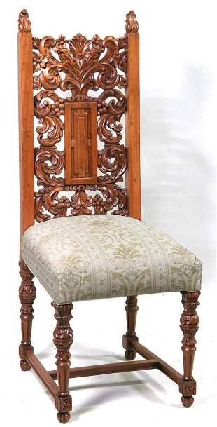 SET OF 8 19th CENTURY RENAISSANCE STYLE CHAIRS
