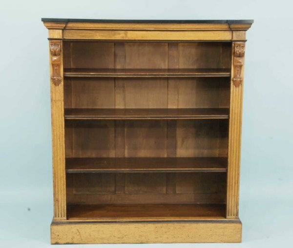 13: WOOD CARVED BOOKCASE BY JOHN REED & SONS