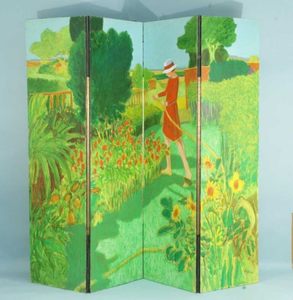 20: CANVAS SCREEN PAINTED BY WILLIAM ANZALONE
