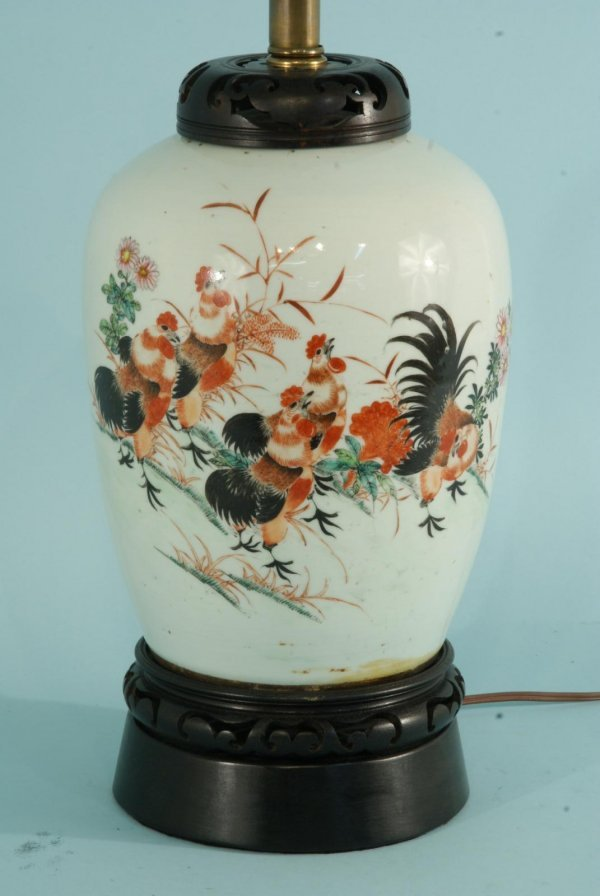 2: ANTIQUE CHINESE VASE CONVERTED TO A LAMP