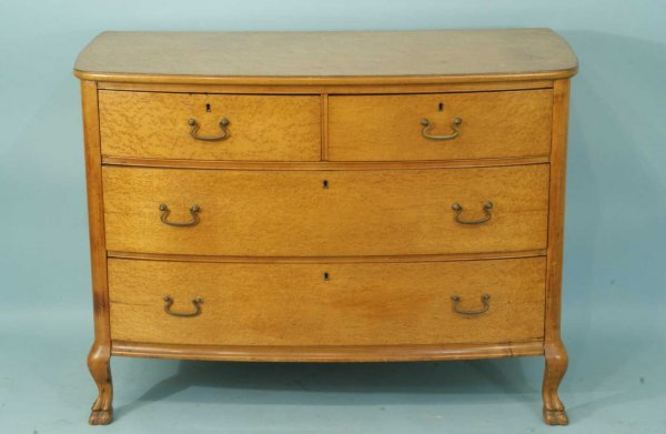 3: ANTIQUE AMERICAN BOWFRONT CHEST, CIRCA 1880's