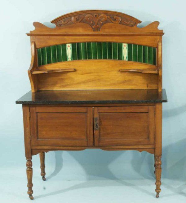 6: ANTIQUE ENGLISH WASHSTAND, CIRCA 1900