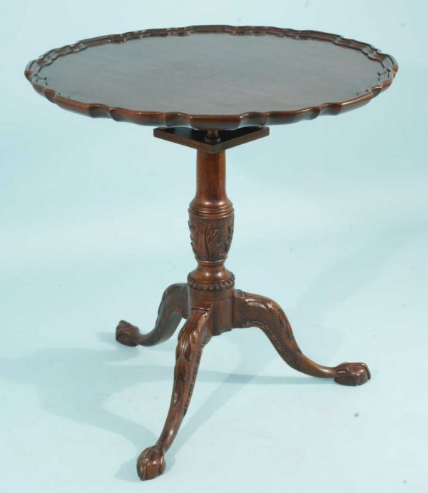 9: HENKEL HARRIS PIE CRUST TILT-TOP TABLE W/BALL & CLAW