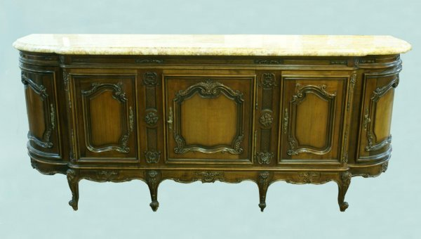 10: FRENCH PROVINCIAL STYLE FRUITWOOD SIDEBOARD