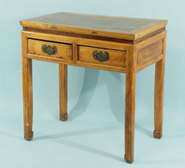 15: ANTIQUE TWO-DRAWER ORIENTAL CONSOLE