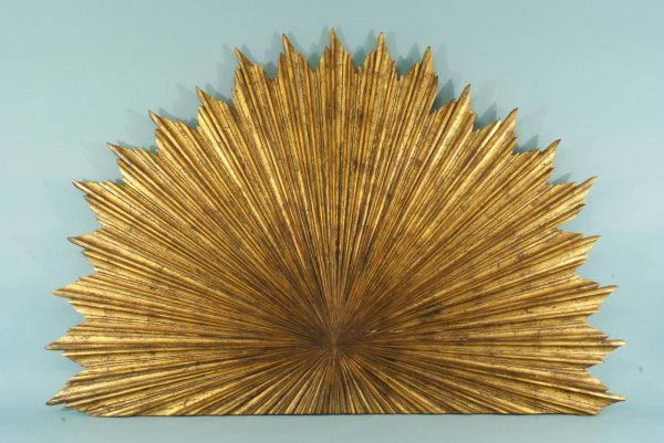 120: WOOD CARVED AND GILDED SUNBURST