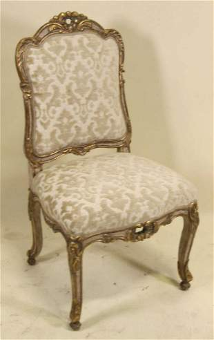 VINTAGE CARVED FRENCH STYLE SIDE CHAIR