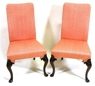 PAIR VINTAGE CHIPPENDALE STYLE CHAIRS BY HICKORY