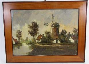 19th CENTURY DUTCH LANDSCAPE OIL ON PANEL
