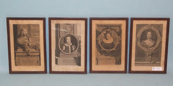 3: SET OF FOUR ENGRAVINGS OF FRENCH ROYALTY