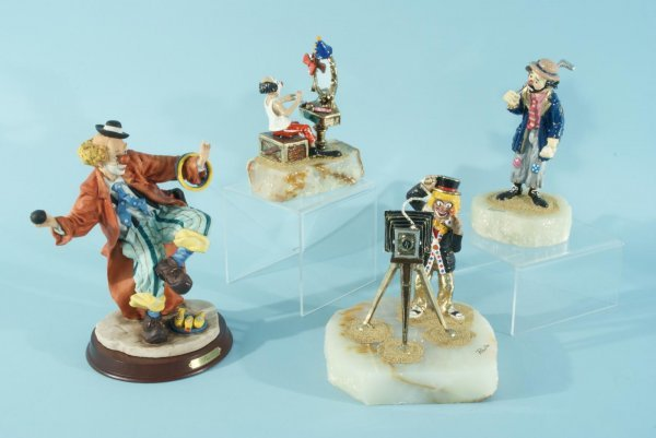 1: LOT OF FOUR CLOWN FIGURES BY RON LEE