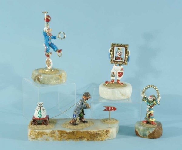 2: LOT OF FOUR CLOWN FIGURES BY RON LEE