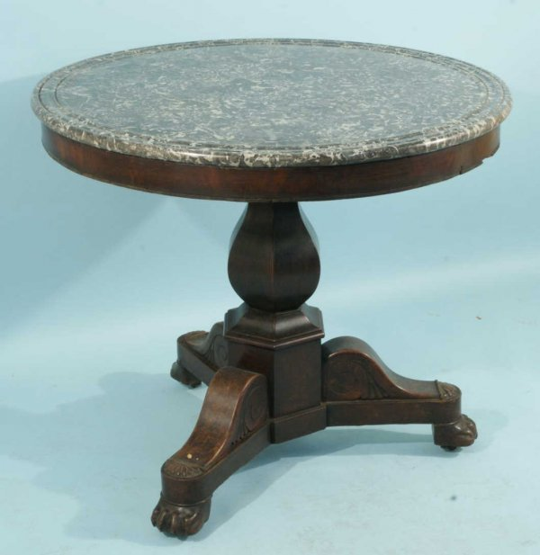 16: FRENCH MAHOGANY GUERIDON TABLE, CIRCA 1850
