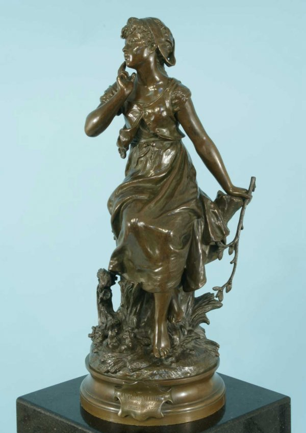 "19: FRENCH BRONZE FIGURE ""CHANT DE L'ALOUETTE"""