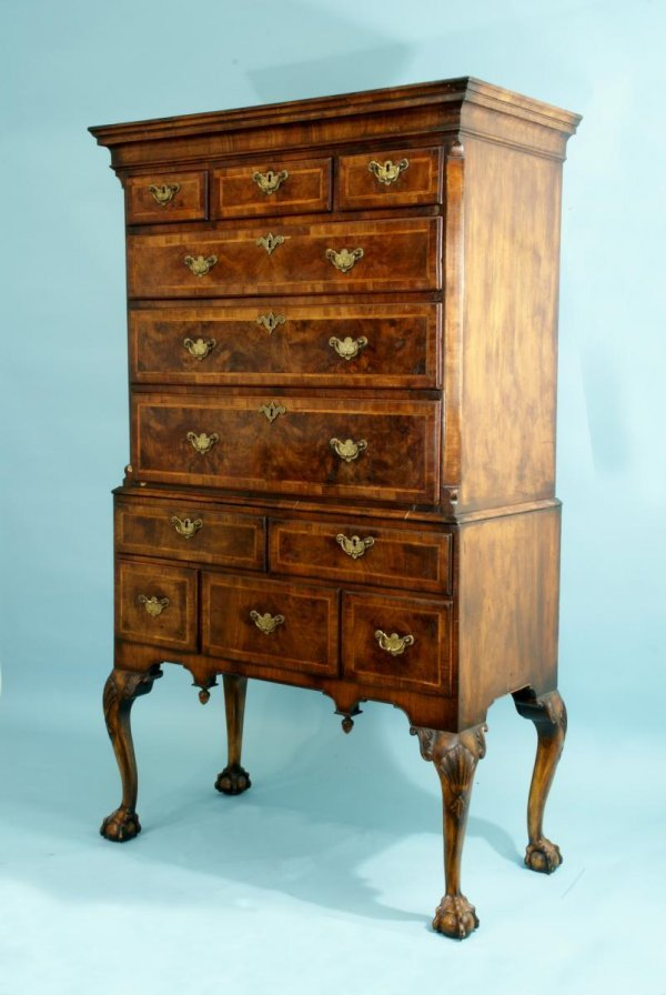 13: ANTIQUE 19th CENTURY GEORGE III CHEST ON STAND