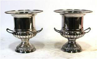 PAIR OF SILVER PLATED CHAMPAGNE BUCKETS