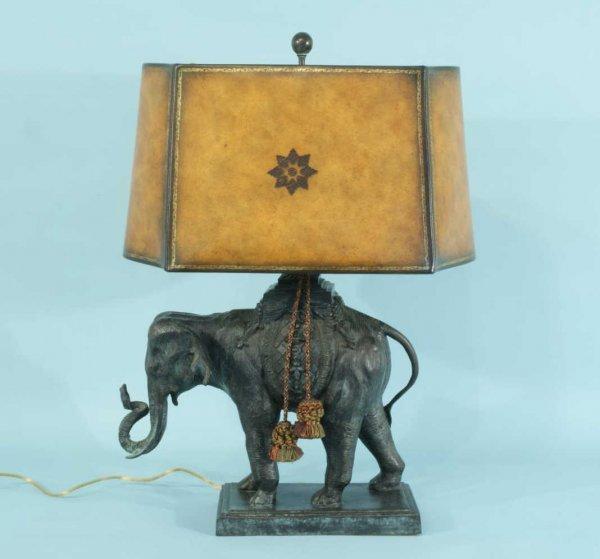 11: MAITLAND-SMITH BRONZE ELEPHANT LAMP