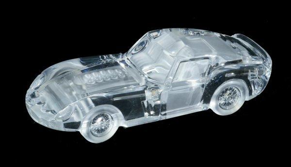 15: DAUM FERRARI ART GLASS CAR