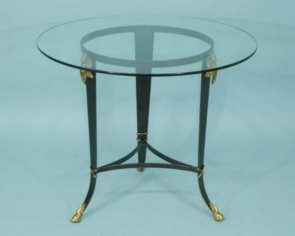 4: PATINAED NEO-CLASSICAL STYLE METAL TABLE