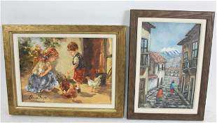 LOT OF TWO ELBE VAN ROOYEN OIL ON CANVAS PAINTINGS
