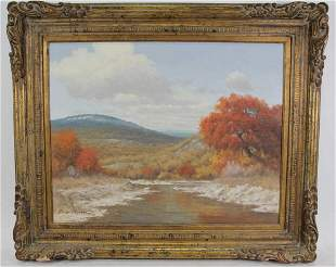 "PALMER CHRISMAN ""TEXAS HILL COUNTRY OIL ON CANVAS"