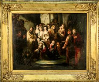 "DANIEL MACLISE ""19th CENTURY JUDGEMENT"" OIL"
