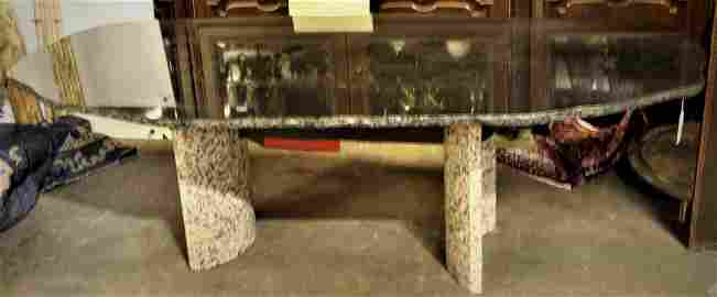 ONE-OF-A-KIND JESUS MOROLES GRANITE DINING TABLE