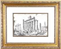 "G.B PIRANESI ANCIENT ""ROMAN RUINS 1"" PRINT"