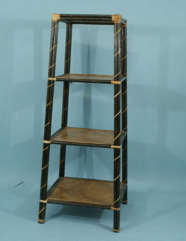 14: PAINTED FOUR-TIER ETAGERE