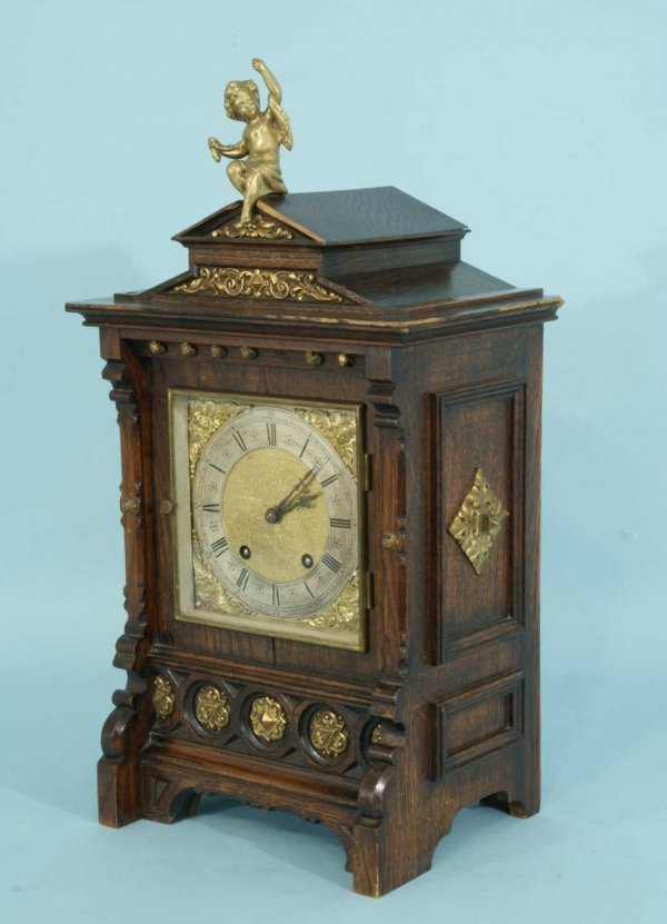 24: ANTIQUE MANTEL CLOCK BY E. W. FOSTER