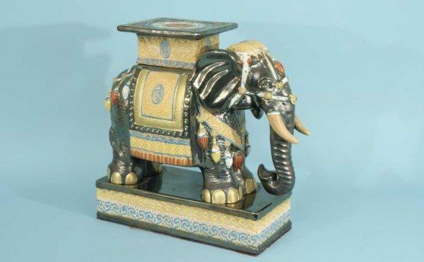 2: PORCELAIN ELEPHANT GARDEN STOOL