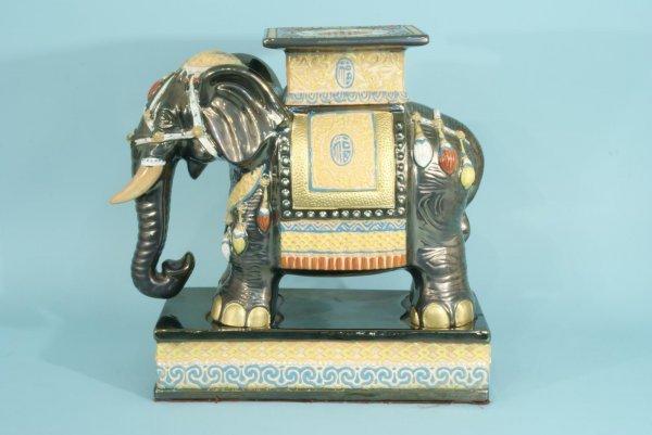 2: PORCELAIN ELEPHANT GARDEN STOOL - 5
