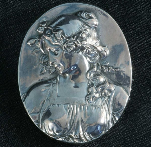 4: ART NOUVEAU STERLING SILVER PAPERWEIGHT